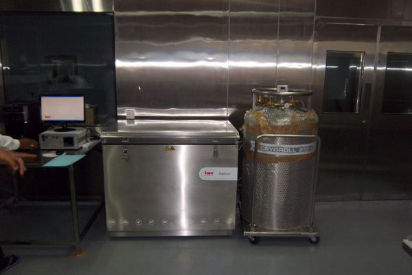 inside the stainless steel lab