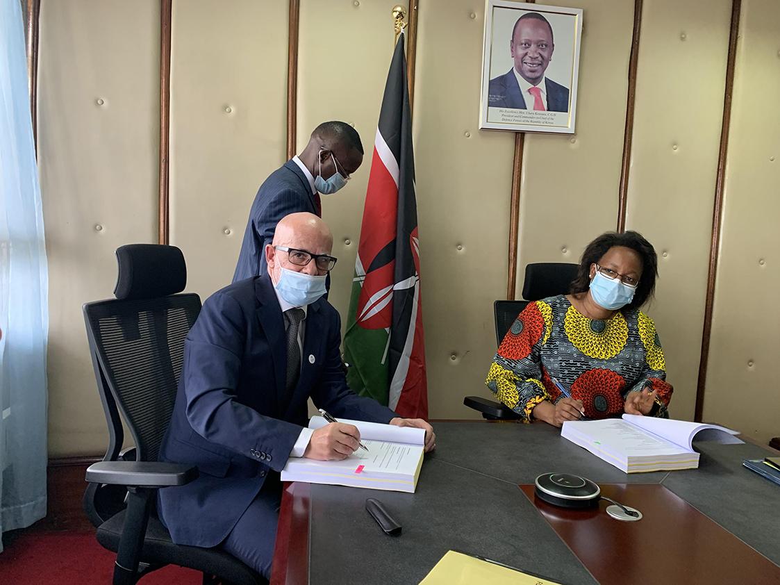 SIGNATURE  À NAIROBI LE 8 DÉCEMBRE 2020 DE NOTRE CONTRAT COMMERCIAL AVEC LE MOH KÉNYAN  POUR UN MONTANT DE 32.2 MILLIONS D'EUROS.